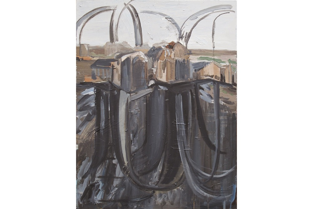 TA, Ruin Site, Oil on canvas,61x46cm 2018