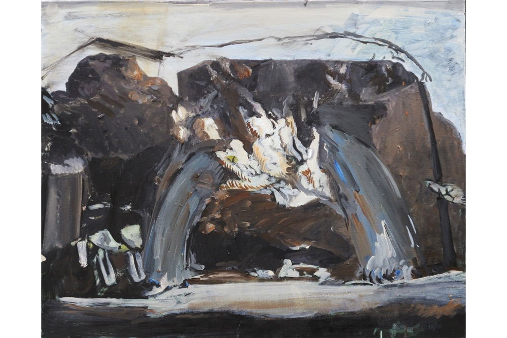 TA, Waterfall, Oil on canvas, 61x76cm, 2018